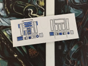 Star Wars Vintage Custom repro die cut R2 D2 sticker
