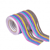 12pcs Glitter Washi Tape Thin Washi Tape Scrapbooking Masking Decorative DIY 6.5m x 0.5cm
