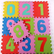 10 Soft Baby Foam Number Squares Jigsaw Puzzle Floor Play Mat with Pop-Out Numbers