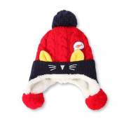 dragonaur Unisex Baby Lovely Cat Fish Winter Warm Soft Knitting Beanie Crochet Cap Hat