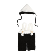 Domybest Newborn Baby Girl Boy Photo Photography Props Crochet Knit Costume Hats Pants Outfits