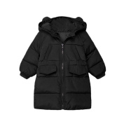 squarex Sunny Baby Girls Boys Solid Hooded Down Jacket Winter Warm Parka Long Coat