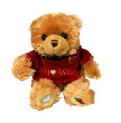 Keel I Love Wales Bear with Fleece Top, Cuddly Toys, 3 Years, 14cm