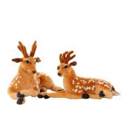 Zhuhaixmy Artificial Simulation Deer Stuffed Animal Cute Toys Soft Cuddly Doll Gift 30cm