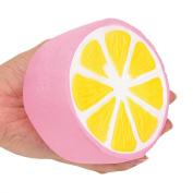 Squishy Lemon Toy ,Mumustar Jumbo Simulation Lemonade Squeeze Slow Rising Scented Stress Reliever Muscle Training Fun Toy Phone Straps Pendant