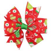 Lenfesh Baby Girls Christmas Ornaments Bowknot Hairpin Headdress