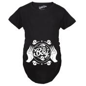 Maternity Crystal Ball It's a Boy Pregnancy Tee Announcing I'm Pregnant Baby Bump T shirt