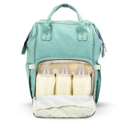 All in One Multifunctional Baby Nappy Bag Nappy Backpack with Separate Pocket Mummy Changing Nappy Nappy Bag