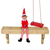 Plush Red Naughty Christmas Elf Soft Doll Toy with 135cm Rope Swing