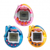 Logres 90S Nostalgic 49Pets Virtual Cyber Pet Game Child Toy Key Tamagotchi Buckles