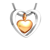 Stainless Steel Heart Urn Necklaces for Ashes Memorial Ash Keepsake Cremation Jewellery