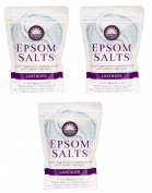 Elysium Spa Bath Salts Natural Magnesium Sulphate Crystals Lavender Salt - 450g Wilsons Direct