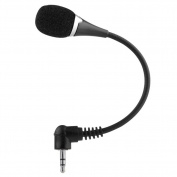 SummerYoung 3.5mm Jack Flexible Neck Mini Microphone Mic for PC Laptop Notebook MSN Skype