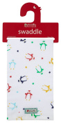 Piccalilly Organic Cotton Multicoloured Unisex Baby Penguin Muslin Swaddle Wrap