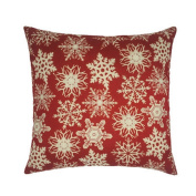 Hoomall Merry Christmas Cartoon Sofa Cushion Case Throw Pillow Cover 46cm x 46cm without Core Red Snow