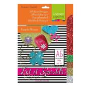 Vaessen Creative 5x Adhesive Glitter Paper 160g A5 Assortment 4, Sortment