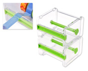DSstyles 2 Pieces 1 Layer Washi Tape Cutting Dispenser, Roll Tape Holder for Washi Masking Tape DIY Stickers