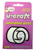 U-Craft 10mm Peelable Removable Glue Adhesive Dots 200 per roll 201062