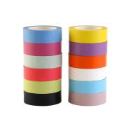NUOLUX 12 Rolls Tape Washi Rainbow Decorative Paper Tape 15mm x 10m