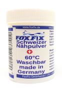 Swiss Nähpulver - 60 ° C Washable NähFix, Flick powder, fabric glue, fabric glue No.2, Ironing powder - 18g in the spreader