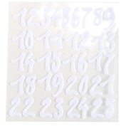 123 Self Adhesive White Felt Numbers Stick On Craft Numbers, Scrap Booking, Decorations - Craft Buddy