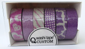 "'5 + 1 Roll 10 m Length Washi Decorative Tape ""Pink Rice Paper Tape"