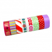Millya Christmas Washi Tape Paper Sticker for DIY Art Crafts Offive Party Supplies Gift Wrapping and Decoration