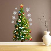 Christmas Wall Sticker, Xinantime Vinyl Removable Christmas Tree Wall Sticker