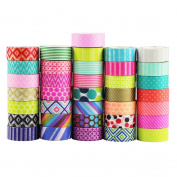 UOOOM 10pcs Decorative Washi Tape Masking Tape Adhesive Scrapbooking DIY Craft Gift