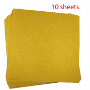 Misscrafts 10 Sheets Large 30cm*30cm Self-Adhesive Craftwork Glitter Sticker Paper Art Sparkling Sign Gemstone Metallic Colour Scrapbooking Diy Christmas Gift