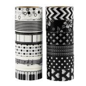 UOOOM 12pcs Decorative Washi Tape Masking Tape Adhesive Scrapbooking DIY Craft Gift
