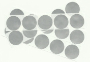 Silver 2.5cm Round Scratch Off Stickers, Pack of 250