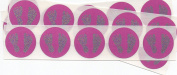 2.5cm Round Pink Baby Feet Scratch Off Stickers, Pack of 50