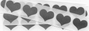 Silver 2.5cm Heart Scratch Off Stickers, Pack of 100