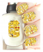 Emoji Nail Art Wraps Easy to use, High Quality Nail Art Decal Stickers For Every Occasion! Ideal Christmas Present / Gift - Great Stocking Filler