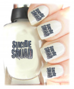 Suicide Squad Nail Art Easy to use, High Quality Nail Art Decal Stickers For Every Occasion! Ideal Christmas Present / Gift - Great Stocking Filler