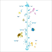 Xinantime Cartoon Fish Growth Chart Height Measure Wall Stickers For Baby