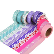 Mudder 10 Rolls Washi Tapes for Scrapbooking Arts Crafts Office Party Supplies and Gift Wrapping