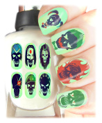 Suicide Squad Nail Art Wraps Easy to use, High Quality Nail Art Decal Stickers For Every Occasion! Ideal Christmas Present / Gift - Great Stocking Filler