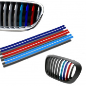 Glitter washi tape,Clode® 1PC 20 x 0.5cm Grille Kidney M Sport Stripe 3 Colour Decal Vinyl Sticker for BMW All