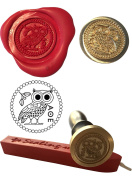 Wax Stamp, GREEK OWL Museum Coin Seal and Red Wax Stick XWSC251-KIT