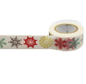 Masking Washi Paper 15mm x 10m Gift Craft Tape Rolls Decoration N15. Snow Flakes