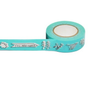15mm x10m Various Design Printed Washi Craft Decoration Tape O25 You Are Here