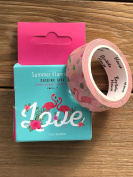 Summer Flamingo cartoon Masking Tape
