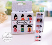 Miss Time Kokeshi Dolls Masking Tape