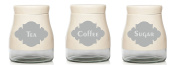 Retang Set of Coffee/Tea/Sugar Vinyl Stickers/Labels for storage jars canisters