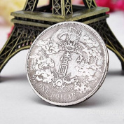 PhilMat Ancient Chinese Dragon Coins Silver Dollar Coin Imitation Coins