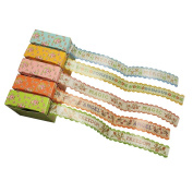 Meetory 5x Floral Masking Tape Collection Decorative Paper Tape for Crafts Scrapbooking Labelling DIY