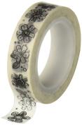 Adorn-It Documented Faith Washi Tape 10YDS Doodle Flowers .13cm , Acrylic, Multicolour