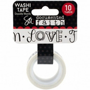 Adorn-It Documented Faith Washi Tape 10YDS Doodle Words .190cm , Acrylic, Multicolour
